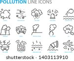 set of pollution line icons ...   Shutterstock .eps vector #1403113910