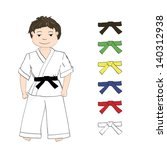 sport boy karate and colored... | Shutterstock .eps vector #140312938