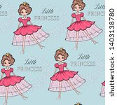 seamless pattern with funny... | Shutterstock .eps vector #1403138780