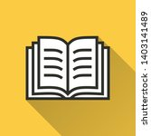 book vector icon with long... | Shutterstock .eps vector #1403141489