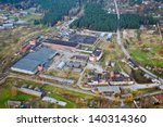 aerial view over the industrial ... | Shutterstock . vector #140314360