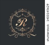 round vintage frame with text... | Shutterstock .eps vector #1403145629