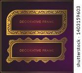 luxury golden frame design with ...   Shutterstock .eps vector #1403159603