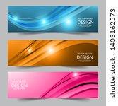 a set of modern vector banners... | Shutterstock .eps vector #1403162573