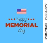 memorial day in united states.... | Shutterstock .eps vector #1403168099