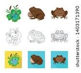 vector illustration of wildlife ... | Shutterstock .eps vector #1403171390