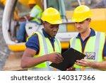 construction co workers... | Shutterstock . vector #140317366