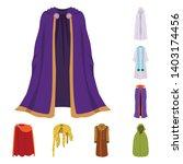vector illustration of cloak... | Shutterstock .eps vector #1403174456