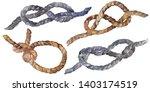 set of sea rope nots.... | Shutterstock . vector #1403174519