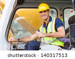 Cheerful Excavator Operator On...