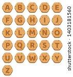 hexagon buttons wood a z...