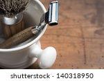 shaving tools  vintage | Shutterstock . vector #140318950