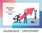 teamwork raises up the schedule.... | Shutterstock .eps vector #1403194409