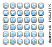 gui buttons jewelry color blue...