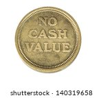 isolated photo of a token coin...   Shutterstock . vector #140319658