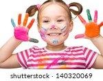 portrait of a cute cheerful... | Shutterstock . vector #140320069