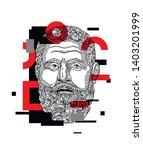emperor pertinax sculpture....   Shutterstock .eps vector #1403201999