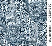 polynesian hawaiian style... | Shutterstock .eps vector #1403204330