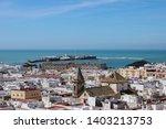 top view of cadiz city ...   Shutterstock . vector #1403213753