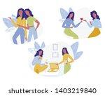 girl friends meeting set...   Shutterstock .eps vector #1403219840