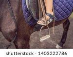 boy horseback riding ... | Shutterstock . vector #1403222786