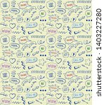 doodle style seamless pattern... | Shutterstock .eps vector #1403227280