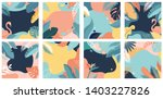 collection of abstract... | Shutterstock .eps vector #1403227826