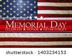 american flag memorial day... | Shutterstock . vector #1403234153