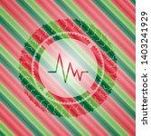 electrocardiogram icon inside... | Shutterstock .eps vector #1403241929