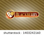 gold emblem with heart with... | Shutterstock .eps vector #1403242160