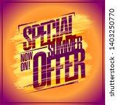 great summer sale poster... | Shutterstock .eps vector #1403250770