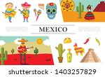 Flat Mexico Composition With...