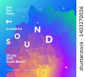 summer sounds electronic music... | Shutterstock .eps vector #1403270036