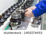plant gear manufacturing close... | Shutterstock . vector #1403276453