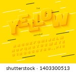 vector yellow  font and... | Shutterstock .eps vector #1403300513
