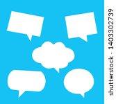 set of bubble speechs on blue...   Shutterstock .eps vector #1403302739