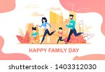 family running marathon in city ...   Shutterstock .eps vector #1403312030