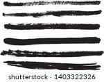 set of black ink horizontal... | Shutterstock .eps vector #1403322326