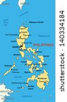 Republic of the Philippines - vector map