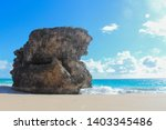 Giant Rock In The Sea On A...