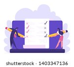 online banking electronic bill... | Shutterstock .eps vector #1403347136