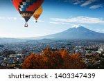 aerial view of mt fuji ...   Shutterstock . vector #1403347439