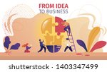from idea to business... | Shutterstock .eps vector #1403347499