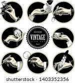 set of round images in vintage... | Shutterstock .eps vector #1403352356