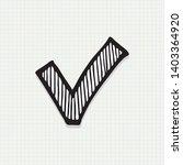 check list button icon.check...   Shutterstock .eps vector #1403364920