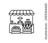 farmers market stall icon... | Shutterstock .eps vector #1403366660