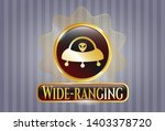 shiny emblem with ufo with... | Shutterstock .eps vector #1403378720