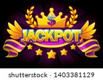 jackpot banner. casino label...