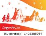 cappadocia. hand drawn turkish... | Shutterstock .eps vector #1403385059