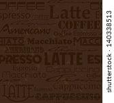 seamless coffee pattern. | Shutterstock . vector #140338513